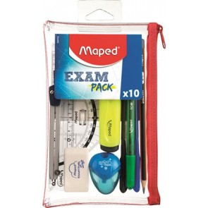 "Iskolacsomag, 10 darabos, MAPED ""Exam Pack"""