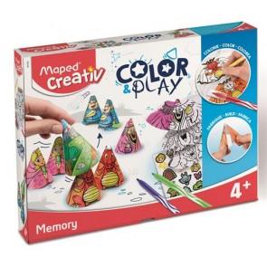 """Kreatív készségfejlesztő készlet, MAPED CREATIV, """"Color and Play"""", memóriajáték"""