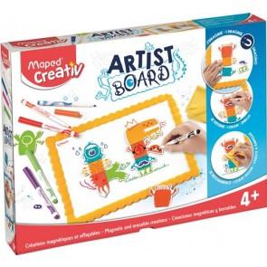"""Kreatív készségfejlesztő fehértábla, mágneses, törölhető,  MAPED CREATIV, """"Artist Board"""", tábla szörny"""