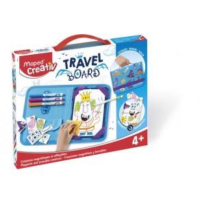 """Kreatív készségfejlesztő, fehértábla, mágneses, törölhető, utazótáskával, MAPED CREATIV, """"Travel Board"""", lovagregény"""