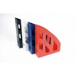 "Iratpapucs, műanyag, 78 mm, HELIT ""Economy"", piros"