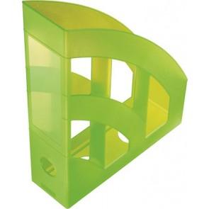 """Iratpapucs, műanyag, 75 mm, HELIT """"Economy"""", áttetsző zöld"""