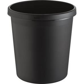 Papírkosár, 18 liter, HELIT, fekete