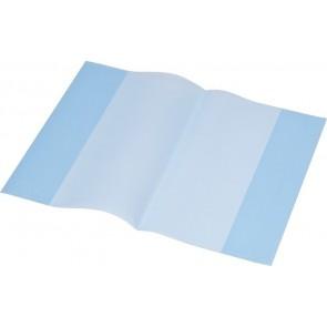 Füzet- és könyvborító, A5, PP, 80 mikron, narancsos felület, PANTA PLAST, kék