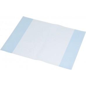 Füzet- és könyvborító, A4, PP, 80 mikron, narancsos felület, PANTA PLAST, kék