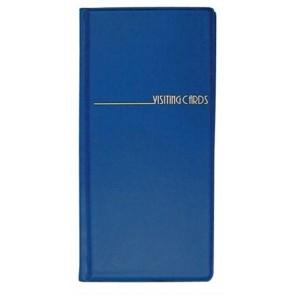 Névjegytartó, 96 db-os, PANTAPLAST, kék
