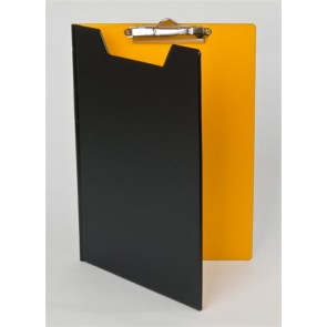 Felírótábla, fedeles, A4, PANTAPLAST, fekete-citromsárga