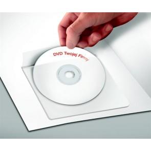 CD tartó zseb, öntapadó, 120x120 mm, PANTA PLAST
