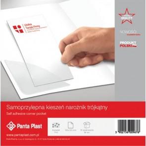 Sarokzseb, 120x120 mm, öntapadó, PANTA PLAST