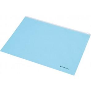 Irattartó tasak, A4, PP, cipzáras, PANTA PLAST, pasztell kék