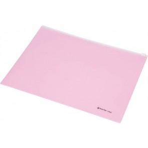 Irattartó tasak, A4, PP, cipzáras, PANTA PLAST, pasztell rózsaszín