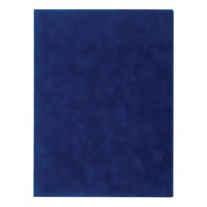 Oklevéltartó, plüss, A4, VICTORIA, kék
