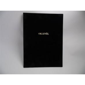Oklevéltartó, A4, exkluzív, aranyozva, fekete