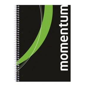 """Spirálfüzet, A4, sima, 90 lap, perforált, lyukasztott, VICTORIA, """"Momentum"""""""