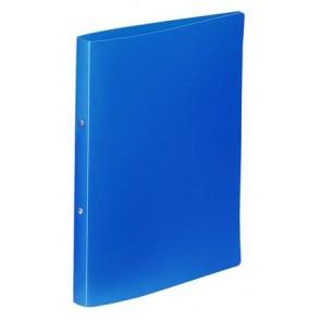"Gyűrűs dosszié, 2 gyűrű, 25 mm, A4, PP, VIQUEL ""Essentiel"", kék"