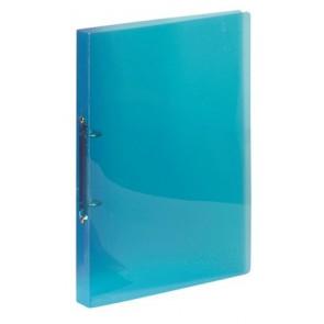 """Gyűrűs dosszié, 2 gyűrű, 25 mm, A4, PP, VIQUEL """"Propyglass"""", kék"""
