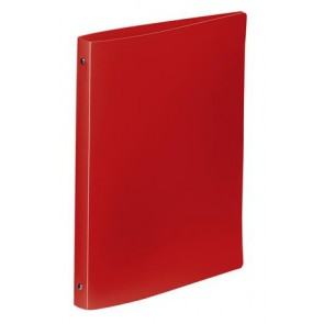 """Gyűrűs dosszié, 4 gyűrű, 25 mm, A4, PP, VIQUEL """"Standard"""", piros"""
