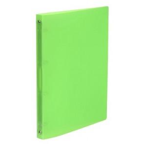 """Gyűrűs dosszié, 4 gyűrű, 25 mm, A4, PP, VIQUEL """"Propyglass"""", zöld"""