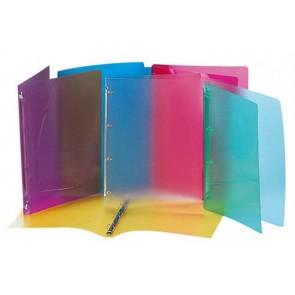 """Gyűrűs dosszié, 4 gyűrű, 25 mm, A4, PP, VIQUEL """"Propyglass"""", vegyes szín"""