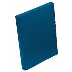 "Gumis mappa, 30 mm, PP, A4, VIQUEL ""Coolbox"", kék"