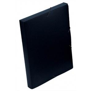 "Gumis mappa, 30 mm, PP, A4, VIQUEL ""Essentiel"", fekete"