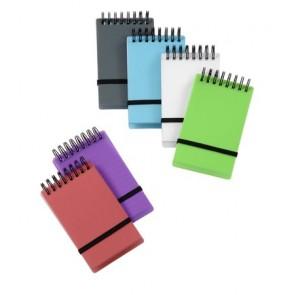 """Spirálnotesz, 75x125 mm, vonalas, VIQUEL """"Propyglass Mini"""", vegyes színek"""