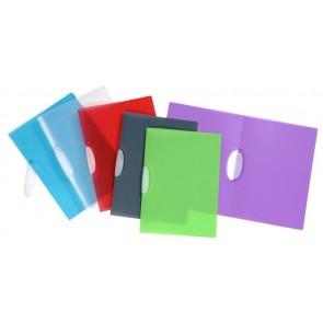 """Gyorsfűző, klipes, PP, A4, VIQUEL """"Propyglass V-Clip"""", vegyes színek"""