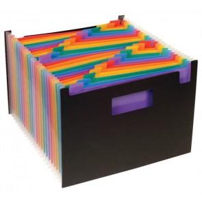 "Harmonikairattartó, PP, 25 rekeszes, VIQUEL ""Rainbow Class"", fekete"