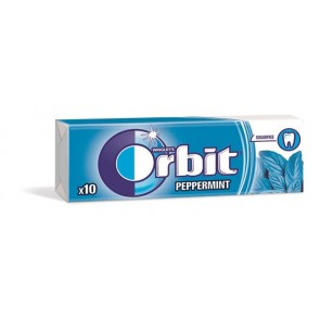 "Rágó, 14 g, ORBIT ""Peppermint drazsé"""