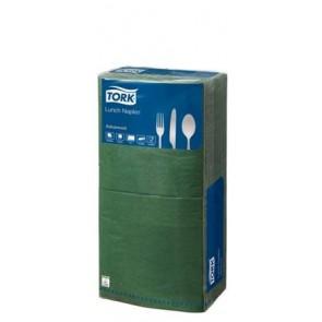 """Szalvéta, 1/4 hajtogatott, 2 rétegű, 33x33 cm, TORK """"Advanced"""", zöld"""