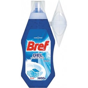 WC-tisztítógél, 360 ml, BREF, óceán