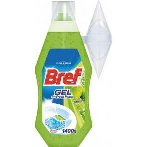 WC-tisztítógél, 360 ml, BREF, zöldalma