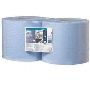 """Törlőpapír, tekercses, 26,2 cm átmérő, W2 rendszer, TORK """"Nagy teljesítményű"""", kék"""