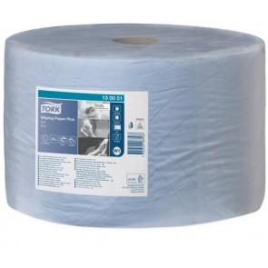 """Törlőpapír, tekercses, 39 cm átmérő, W1 rendszer, TORK """"Plusz"""", kék"""