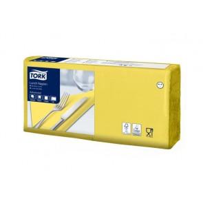 """Szalvéta, 1/4 hajtogatott, 2 rétegű, 33x33 cm, TORK """"Advanced"""", sárga"""