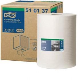 """Törlőkendő, tekercses, oldószeres tisztításhoz, TORK """"Premium Multipurpose"""", fehér"""
