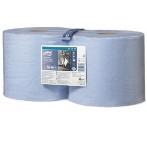 """Törlőpapír, tekercses, 26,2 cm átmérő, W2 rendszer, TORK """"Ipari nagy teljesítményű"""", kék"""