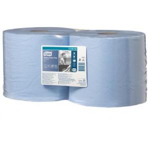 """Törlőpapír, tekercses, 26 cm átmérő, W2 rendszer, TORK """"Plusz"""", kék"""