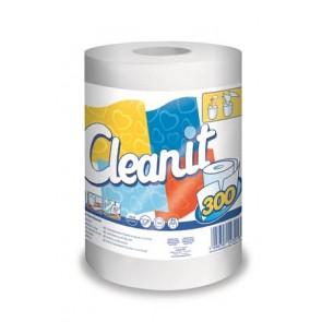 """Törlőkendő, tekercses, univerzális, 2 rétegű, LUCART """"CLEANIT 300"""", fehér"""