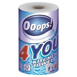 """Háztartási papírtörlő, 2 rétegű, 1 tekercses, """"Ooops! 4You"""""""