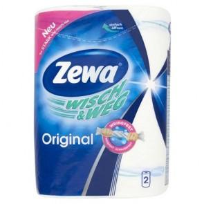 """Háztartási papírtörlő, 2 rétegű, 2 tekercses, ZEWA """"Wisch&Weg Original"""""""