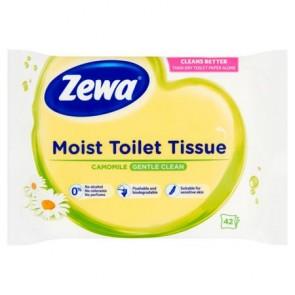 Toalettpapír, nedves, 42db, ZEWA, kamilla