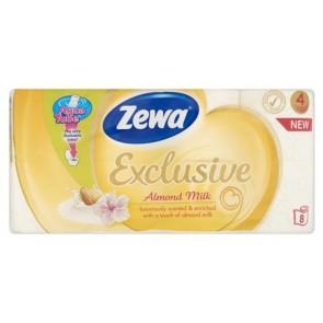 """Toalettpapír, 4 rétegű, 8 tekercses, ZEWA """"Exclusive"""", almond milk"""