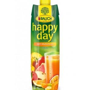 "Gyümölcslé, 100%, 1 l, RAUCH ""Happy day"", multivitamin"
