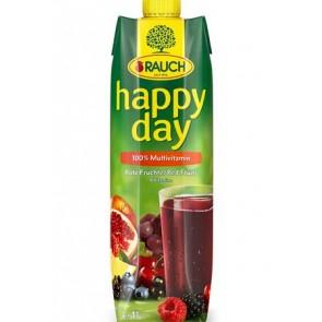 "Gyümölcslé, 100%, 1 l, RAUCH ""Happy day"", piros multivitamin"