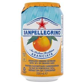 Üdítőital, szénsavas, 0,33 l, SAN PELLEGRINO, narancs