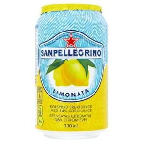 Üdítőital, szénsavas, 0,33 l, SAN PELLEGRINO, citrom