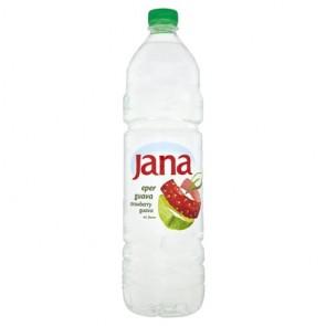 Ásványvíz, ízesített, JANA, 1,5 l, eper-guava