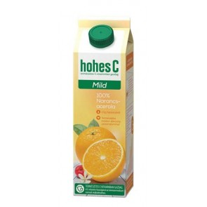 """Gyümölcslé, 100%, 1 l, HOHES C """"Mild Juice"""", narancs-acerola"""