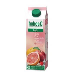 """Gyümölcslé, 100%, 1 l, HOHES C """"Mild Juice"""", pink grapefruit-alma-narancs"""